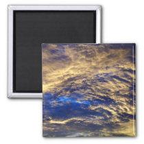 Beautiful clouds photo design. magnet