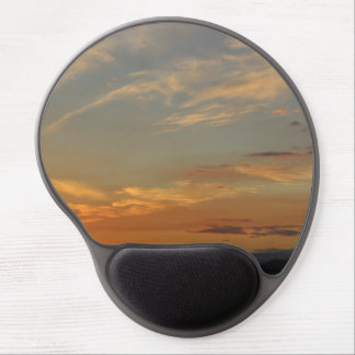 Beautiful cloudy sunset time gel mouse pad
