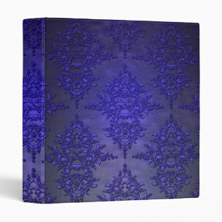 Beautiful Cobalt Blue Damask Binder