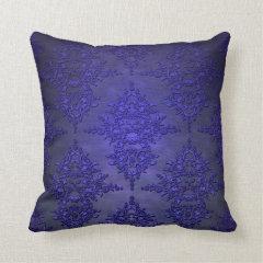 Beautiful Cobalt Blue Damask Pillows