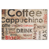 Beautiful Coffee Espresso Cappucino Pattern Tissue Paper