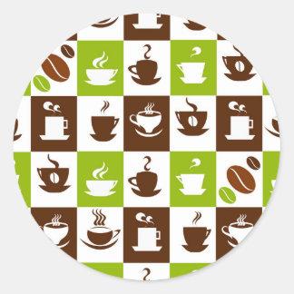 Beautiful Coffee Espresso Design Classic Round Sticker