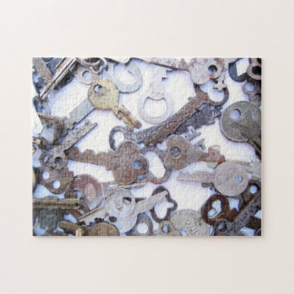 Beautiful Collection of Vintage Old Skeleton Keys Jigsaw Puzzle