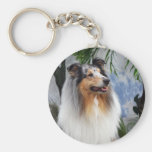 Beautiful Collie dog blue merle keychain, gift