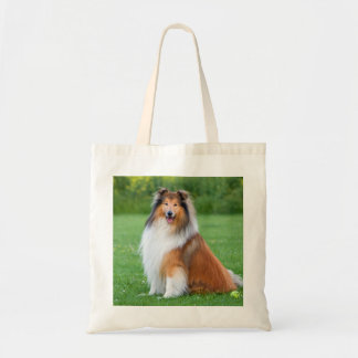 Beautiful Collie dog portrait tote bag, gift idea