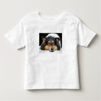 Beautiful collie dog toddlers, girls, boys t-shirt