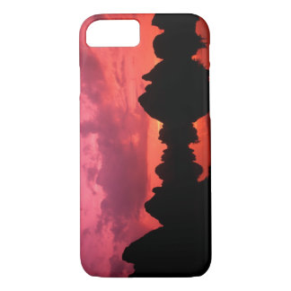 Beautiful color at sunset of limestone mountains iPhone 7 case