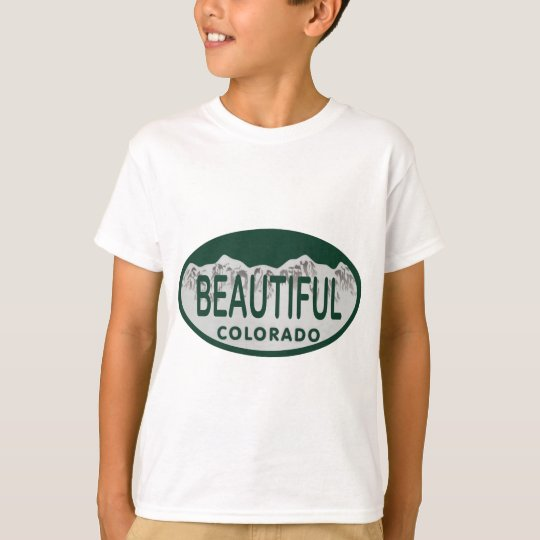 Beautiful Colorado license oval T-Shirt