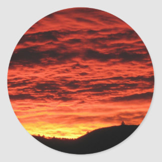 Beautiful Colorado Sunrise Classic Round Sticker