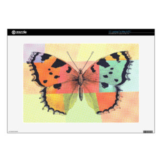 "Beautiful Colored Butterfly Sketch 15"" Laptop Decal"