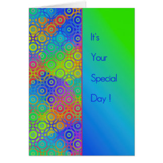Beautiful Colored Circles Pattern Special Day Greeting Card