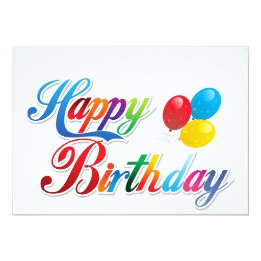 beautiful colored happy birthday balloons card  Zazzle