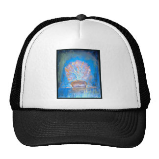 Beautiful colored pastel print of flowers trucker hat