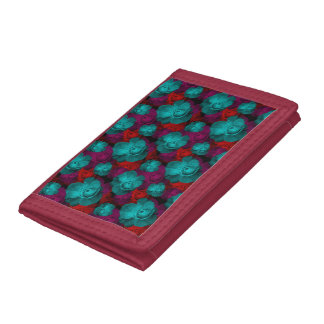 Beautiful Colored Roses Trifold Wallet
