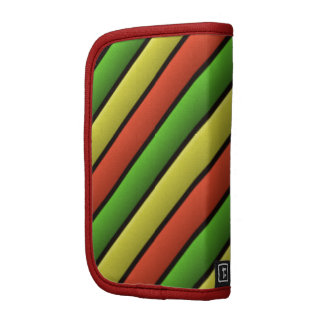 Beautiful Colored Stripes Folio Planners