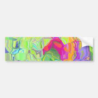Beautiful Colorful Abstract Art Ice Cubes Gifts Car Bumper Sticker