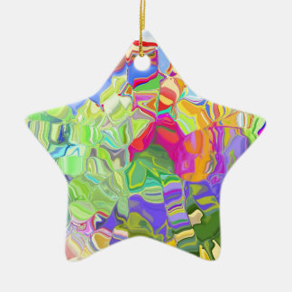 Beautiful Colorful Abstract Art Ice Cubes Gifts Ceramic Ornament