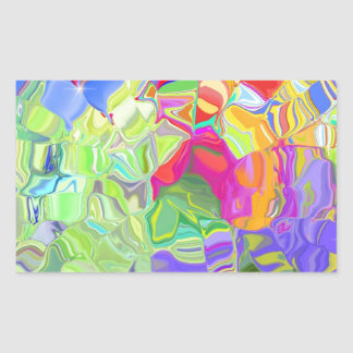 Beautiful Colorful Abstract Art Ice Cubes Gifts Rectangular Sticker