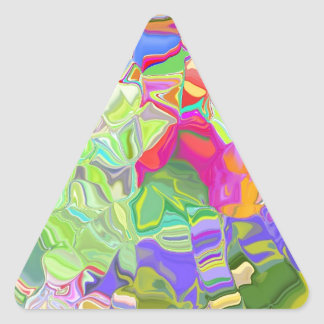 Beautiful Colorful Abstract Art Ice Cubes Gifts Triangle Sticker