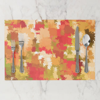 Beautiful Colorful Abstract Pattern Paper Placemat