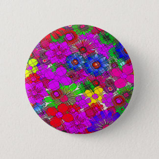 Beautiful colorful amazing floral pattern design a button