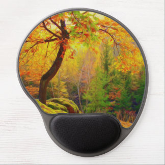 Beautiful Colorful Autumn Leaves Gel Mousepads