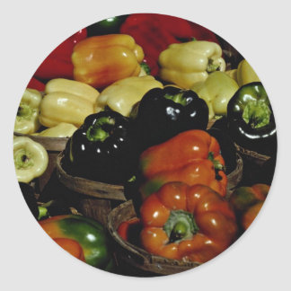 Beautiful Colorful bell peppers Classic Round Sticker