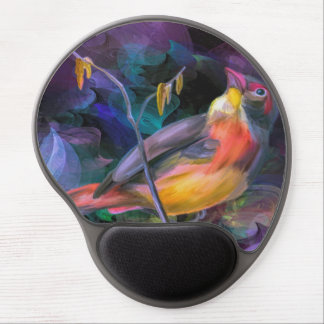 Beautiful Colorful Bird Gel Mouse Pad