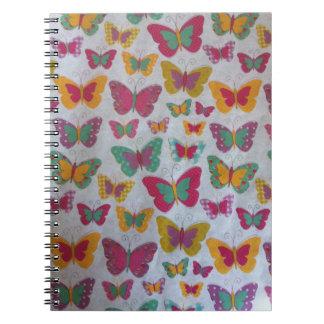 beautiful Colorful butterflies Photo Notebook 80 p