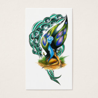Beautiful Colorful Celtic Forest Faery Business Card