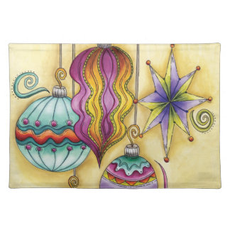 Beautiful Colorful Christmas Ornaments Hanging Place Mats