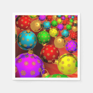 Beautiful, Colorful, Christmas Ornaments Paper Napkin