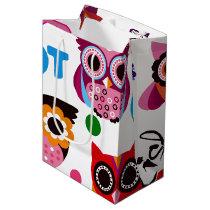 Beautiful Colorful Custom Owl Medium Gift Bag