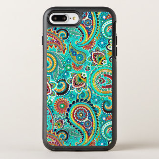Beautiful Colorful Floral Paisley OtterBox Symmetry iPhone 7 Plus Case