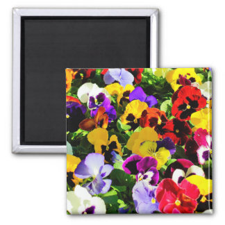 Beautiful Colorful Flower Composition 2 Inch Square Magnet
