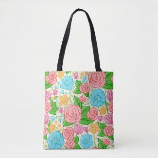 Beautiful Colorful Flowers Pattern