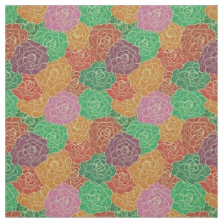 Beautiful Colorful Flowers Seamless Pattern