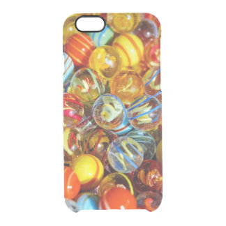 beautiful colorful glass marble balls photograph clear iPhone 6/6S case