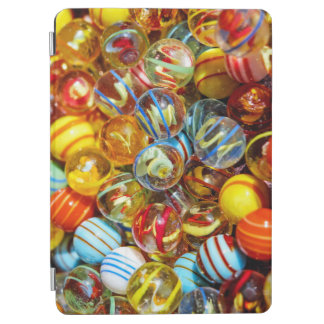 beautiful colorful glass marble balls photograph iPad air cover