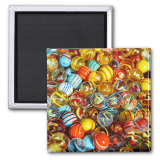 beautiful colorful glass marble balls photograph magnet