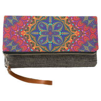 Beautiful colorful Kaleidoscope Clutch