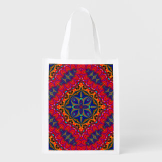 Beautiful colorful Kaleidoscope Reusable Grocery Bag