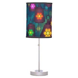 Beautiful Colorful Lantern - Table Lamp