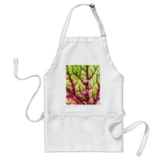 Beautiful Colorful Leaf with Raindrops Adult Apron