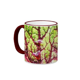 Beautiful Colorful Leaf with Raindrops mug