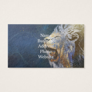 Beautiful colorful lion business card