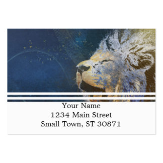 Beautiful colorful lion large business card