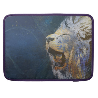 Beautiful colorful lion MacBook pro sleeves