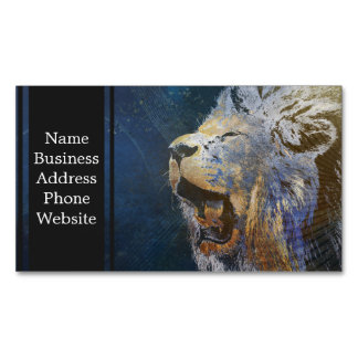 Beautiful colorful lion magnetic business card