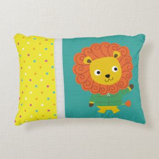 Beautiful Colorful Lion Personalized Accent Pillow